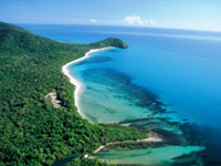 Aerial image of Cape Tribulation