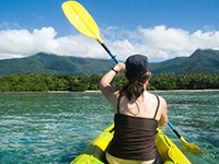 Canoe at Cape Tribulation