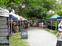 Port Douglas Sunday Market stalls